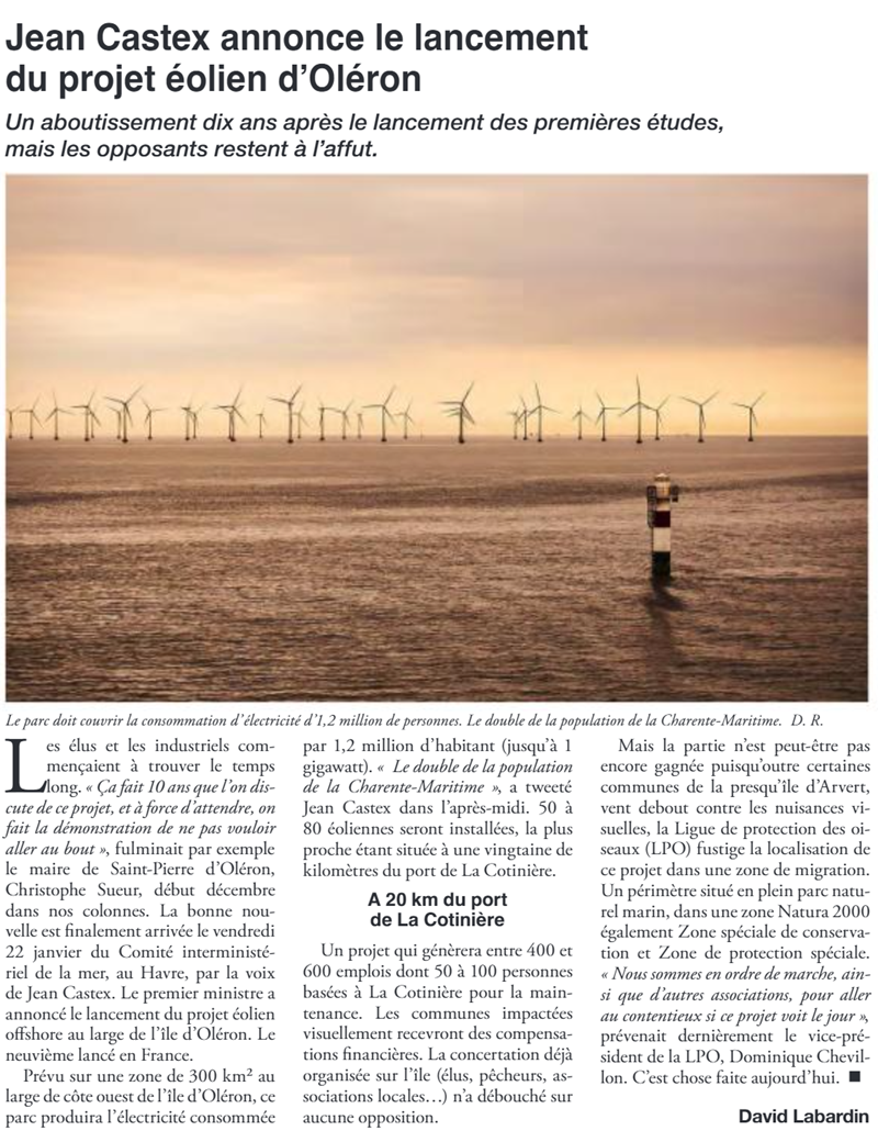 Article le Littoral 29/1/2021
